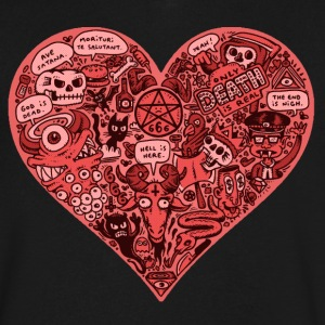 Heart of Darkness - Men's V-Neck T-Shirt by Canvas