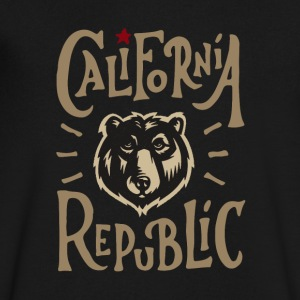 California Republic Wolf - Men's V-Neck T-Shirt by Canvas