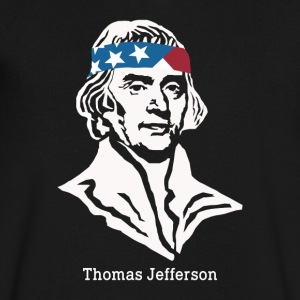 President Thomas Jefferson American Patriot Vintag - Men's V-Neck T-Shirt by Canvas