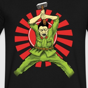 The Asian Warrior - Men's V-Neck T-Shirt by Canvas