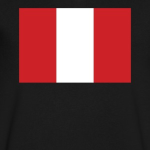 Flag of Peru Cool Peruvian Flag - Men's V-Neck T-Shirt by Canvas