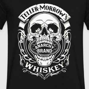 ANARCHY BRAND WHISKEY - Men's V-Neck T-Shirt by Canvas