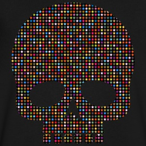 skull out of stars - Men's V-Neck T-Shirt by Canvas