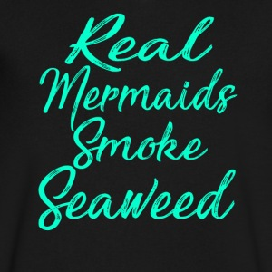 Real Mermaids Smoke Seaweed T-shirt - Men's V-Neck T-Shirt by Canvas