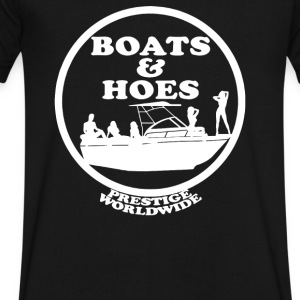 Boats and Hoes - Men's V-Neck T-Shirt by Canvas