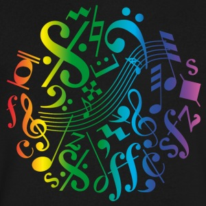 Colorful music notes and signs - Men's V-Neck T-Shirt by Canvas