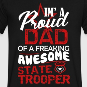 State Trooper Dad Shirt - Men's V-Neck T-Shirt by Canvas