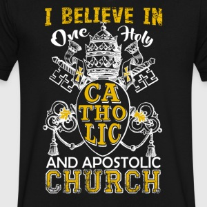 Believe In One Holy Catholic Shirt - Men's V-Neck T-Shirt by Canvas