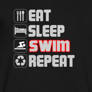 Eat Sleep Swim Repeat T-SHirt - Men's V-Neck T-Shirt by Canvas