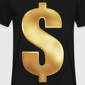 Gold Money Bling - Men's V-Neck T-Shirt by Canvas