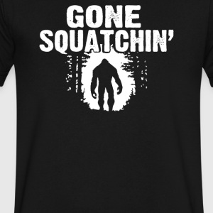 GONE SQUATCHIN FINDING SASQUATCH BIG FOOT - Men's V-Neck T-Shirt by Canvas