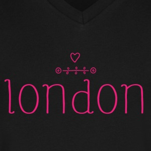 London Love Simple - Men's V-Neck T-Shirt by Canvas