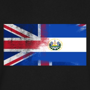 British Salvadoran Half El Salvador Half UK Flag - Men's V-Neck T-Shirt by Canvas