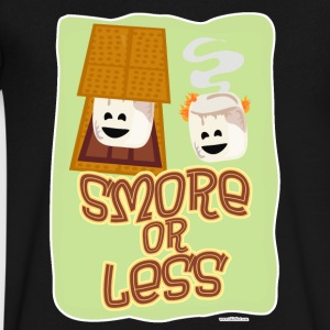 Smore or Less - Men's V-Neck T-Shirt by Canvas