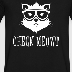 Check Meowt - Men's V-Neck T-Shirt by Canvas