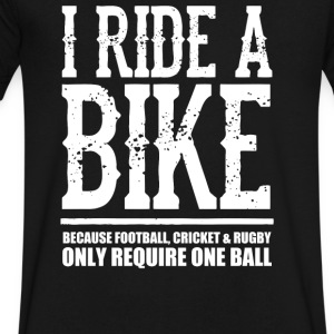 I Ride A Bike - Men's V-Neck T-Shirt by Canvas