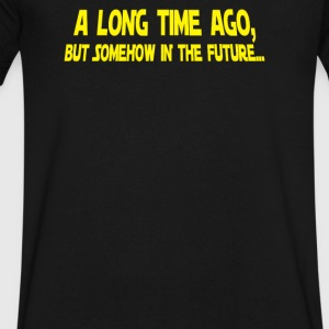 A Long Time Ago But Somehow In The Future - Men's V-Neck T-Shirt by Canvas