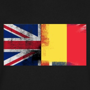 British Belgian Half Belgium Half UK Flag - Men's V-Neck T-Shirt by Canvas