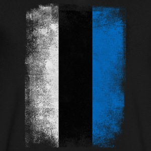 Estonia Flag Proud Estonian Vintage Distressed - Men's V-Neck T-Shirt by Canvas