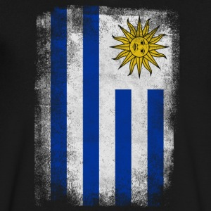Uruguay Flag Proud Uruguayan Vintage Distressed Sh - Men's V-Neck T-Shirt by Canvas