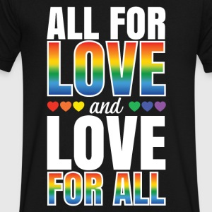 All For Love and Love For All - Men's V-Neck T-Shirt by Canvas