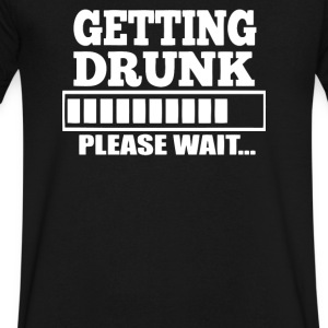 Getting Drunk - Men's V-Neck T-Shirt by Canvas