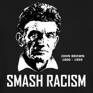 SMASH RACISM - JOHN BROWN - Men's V-Neck T-Shirt by Canvas