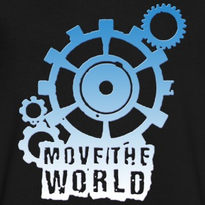 move the world - Men's V-Neck T-Shirt by Canvas