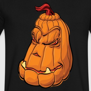 Scary Halloween Pumpkin - Men's V-Neck T-Shirt by Canvas