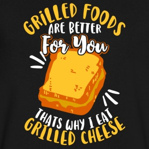 Grilled Foods are better for you - Men's V-Neck T-Shirt by Canvas