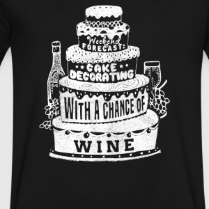 Chance of Wine - Men's V-Neck T-Shirt by Canvas