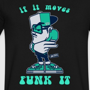 If it moves funk it - Men's V-Neck T-Shirt by Canvas