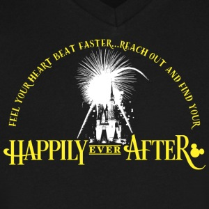 Happily Ever After - Men's V-Neck T-Shirt by Canvas
