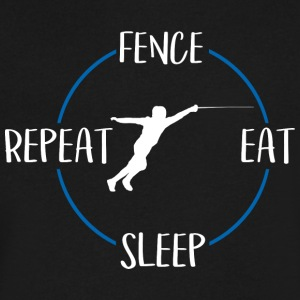 Fence, Eat, Sleep, Repeat - Men's V-Neck T-Shirt by Canvas