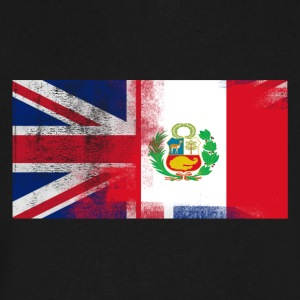 British Peruvian Half Peru Half UK Flag - Men's V-Neck T-Shirt by Canvas