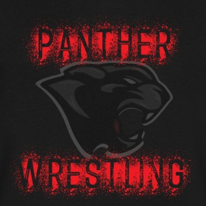 Panther Wrestling Splatter - Men's V-Neck T-Shirt by Canvas