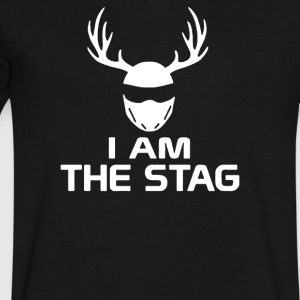 I Am The Stag Stag Night Hen Wedding - Men's V-Neck T-Shirt by Canvas