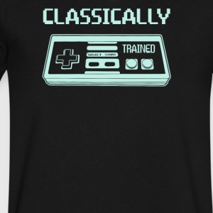 Classically Trained - Men's V-Neck T-Shirt by Canvas