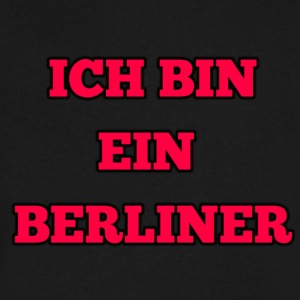 ICH BIN EIN BERLINER - Men's V-Neck T-Shirt by Canvas
