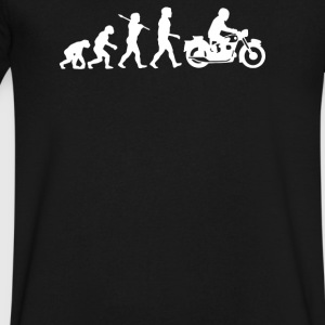 Evolution of Man - Men's V-Neck T-Shirt by Canvas