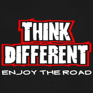 THINK DIFFERENT - Men's V-Neck T-Shirt by Canvas