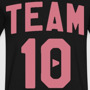 TEAM 10 TEN arc - pink - Men's V-Neck T-Shirt by Canvas