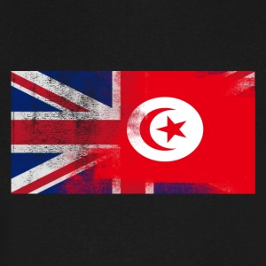 British Tunisian Half Tunisia Half UK Flag - Men's V-Neck T-Shirt by Canvas