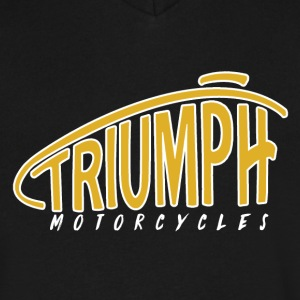 Triumph Logo Tank Bulky95 5 - Men's V-Neck T-Shirt by Canvas