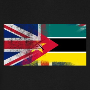 British Mozambican Half Mozambique Half UK Flag - Men's V-Neck T-Shirt by Canvas