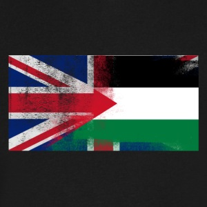 British Palestinian Half Palestine Half UK Flag - Men's V-Neck T-Shirt by Canvas