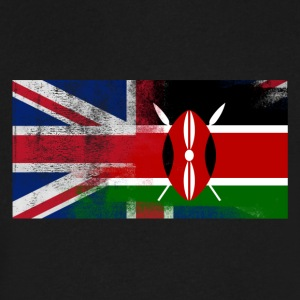 British Kenyan Half Kenya Half UK Flag - Men's V-Neck T-Shirt by Canvas