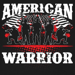 American Warrior! USA! Proud! - Men's V-Neck T-Shirt by Canvas