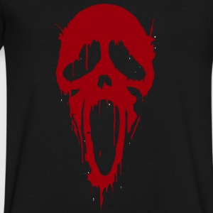 Scream Mask Halloween - Men's V-Neck T-Shirt by Canvas