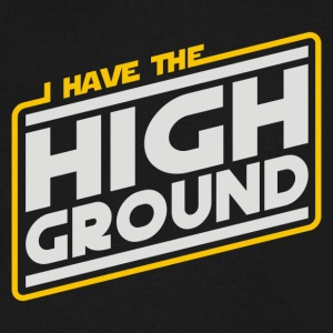 I Have the High Ground - Men's V-Neck T-Shirt by Canvas